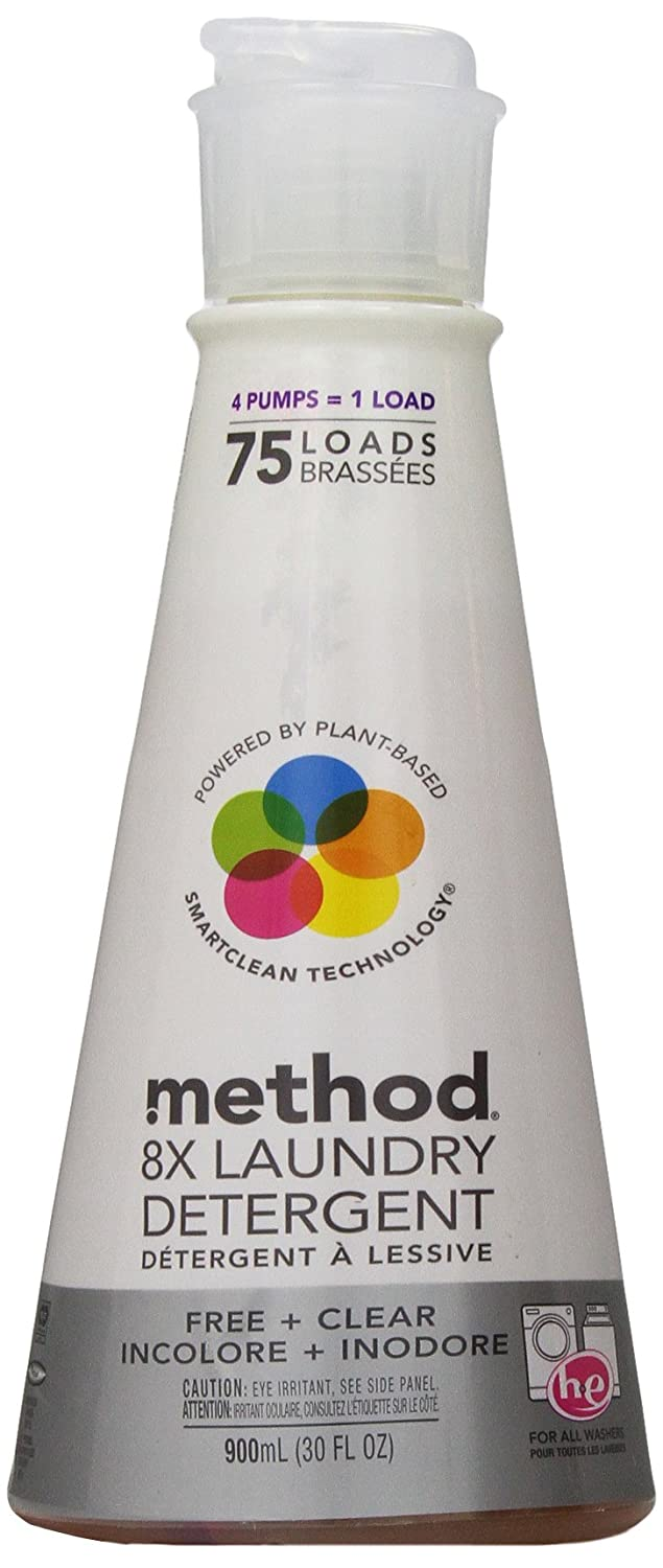 Method Naturally Derived 8x Concentrated Laundry Detergent, Free & Clear