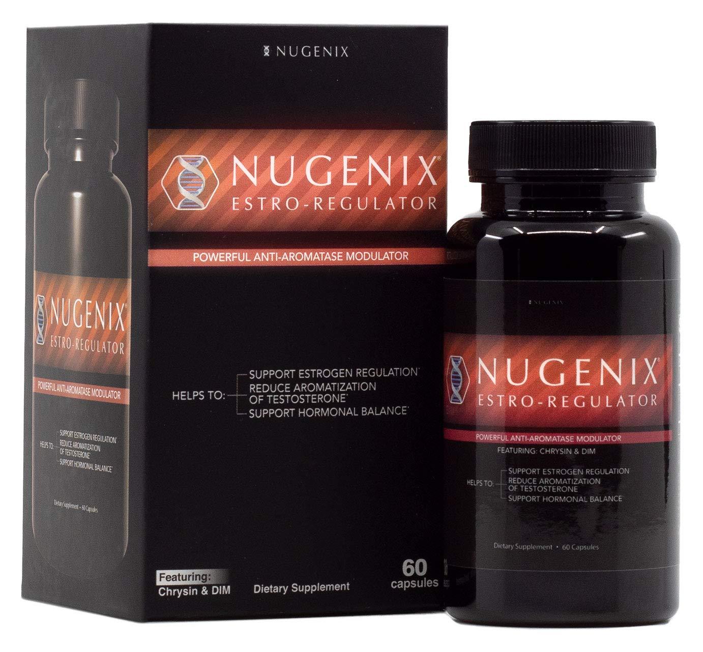 Nugenix Estro-Regulator - Power Estrogen Blocker, Boost Testosterone, Aromatase Inhibitor, DIM, Chrysin - 60 Capsules by Nugenix (Image #1)
