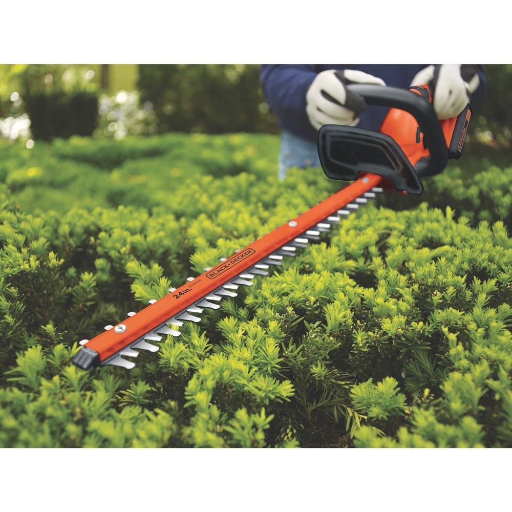 BLACK+DECKER LHT2436 40-Volt High Performance Cordless Hedge Trimmer, 24-