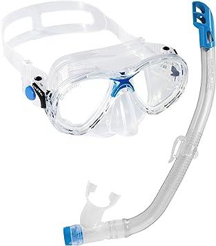 Cressi Set Marea VIP Jr - Gafas y Tubo de Buceo para niños Azul