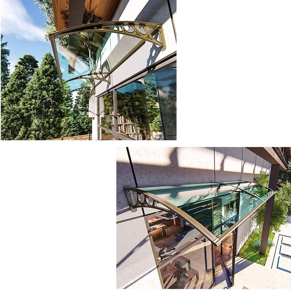 NEVY-tejadillo de protección Marquesina Techo Puerta Exterior Aleros De Techo Pérgola A Prueba De Lluvia Panel De Policarbonato Resistente A Impactos Refugio De Sol De Puerta Trasera: Amazon.es: Jardín