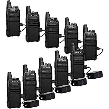 mini Retevis RT22 Two Way Radios License-Free Rechargeable Walkie Talkies 16 Ch Vox Channel Lock Emergency Alarm 2 Way Radio