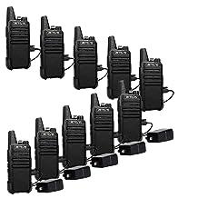Retevis RT22 Two Way Radios License-Free Rechargeable Walkie Talkies 16 Ch Vox Channel Lock Emergency Alarm 2 Way Radio
