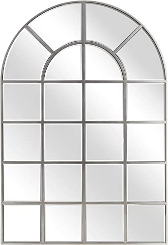 Empire Art Direct Wall, Arch Window Panel, 0.25 -Beveled Modern Mirror for Bathroom,Vanity,Bedroom,Ready to Hang, 30 x 44 , Clear