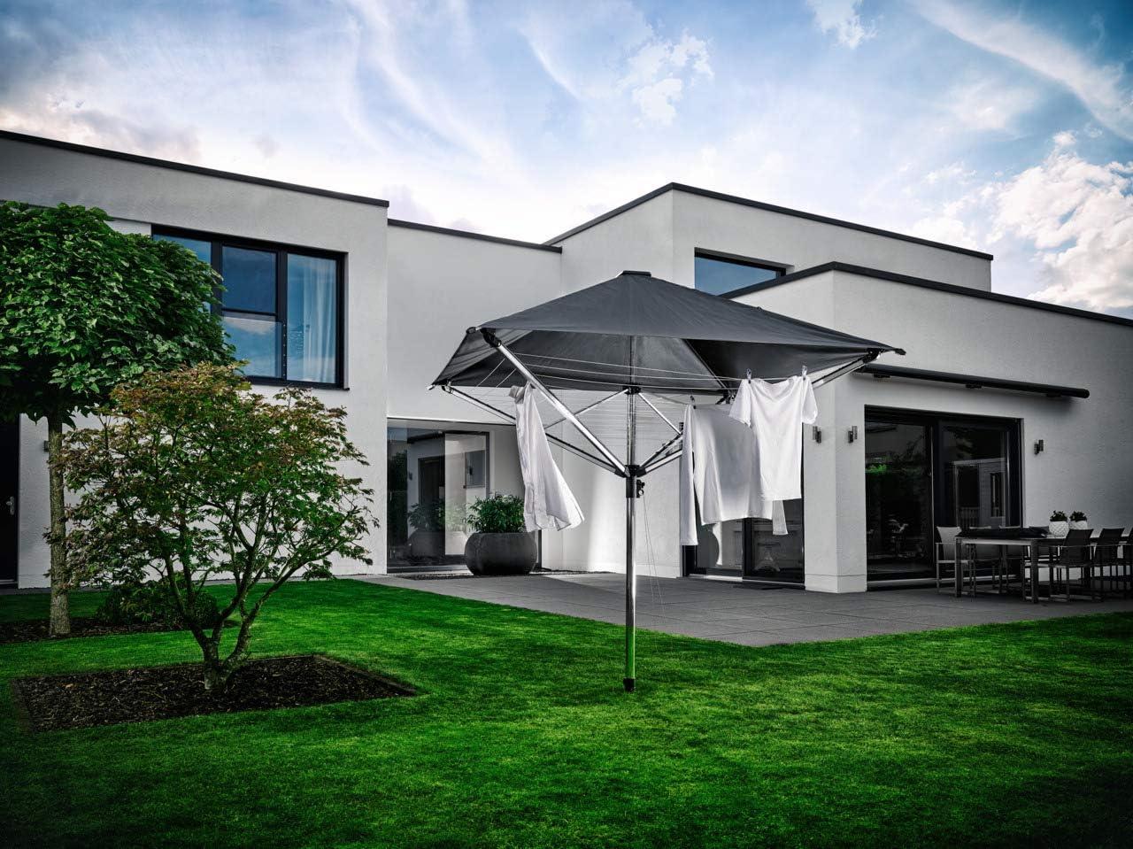 Leifheit Wäscheschirm TENDEDERO LINOPROTECT 400 1082100, Aluminio, Antracita, 220,5 x 80 x 60 cm: Amazon.es: Hogar