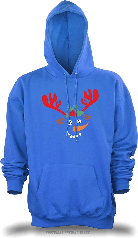 Reindeer Snowman Unisex Pullover Hoodie