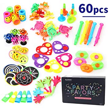 Amy&Benton 60 Rellenos para Bolsas de Fiesta de Juguetes de Alta Calidad Premium - Regalos de Fiesta perfectos para Niños y Niñas