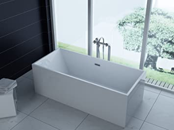 Luxus freistehende Badewanne 180x80 + Acrylwanne inkl. Ablauf und ...