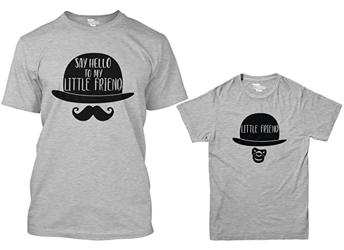 e2ac8ae7c Say Hello to My Little Friend/Little Friend Matching Youth & Men's T-Shirt