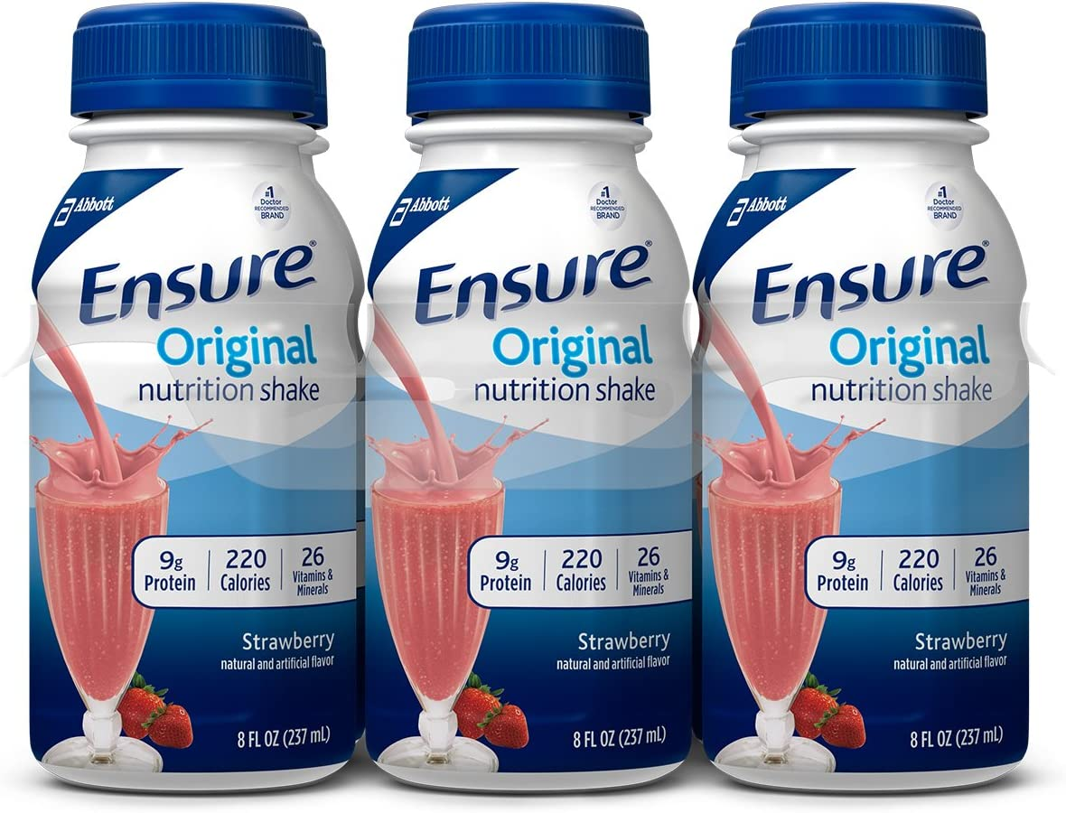 Ensure Plus Nutrition Shake, Vanilla, 8-ounce Bottle Pack of 48