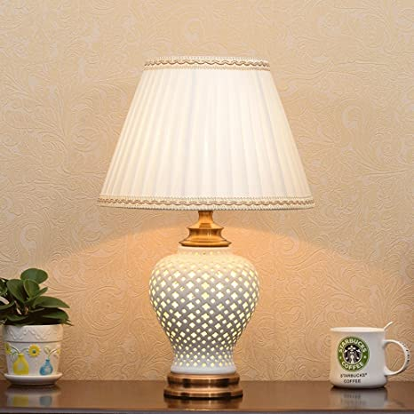 Lampada da tavolo Lampada da tavolo in ceramica cava, lampada a ...