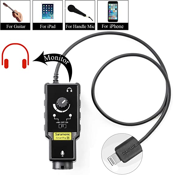 Microphone Preamp Compatible with IOS Devices Livestream