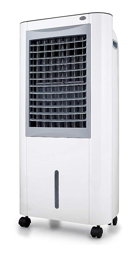 YATEK Climatizador evaporativo YK-M99, 10L de Capacidad Y 160 W de Potencia, con Alerta de escasez de Agua y deposito de Agua Extraible, Incluye Tableta para el Hielo