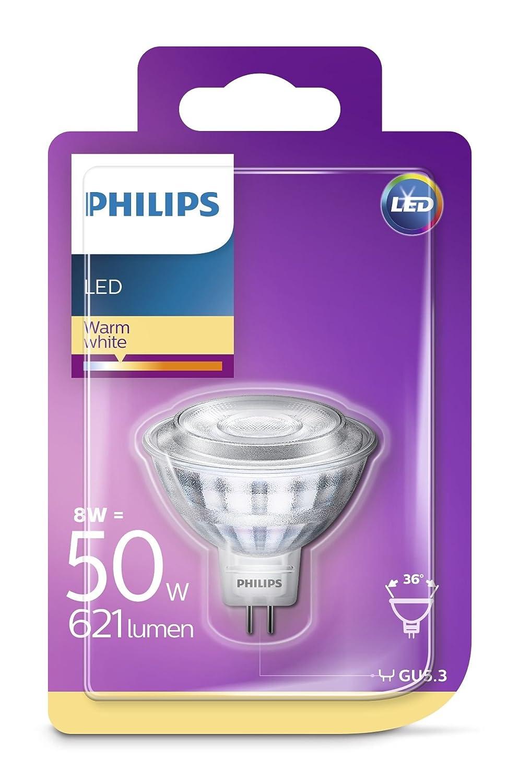 Philips 8718696710555 Bombilla para Foco LED GU5.3, 8 W, Transparente: Amazon.es: Iluminación