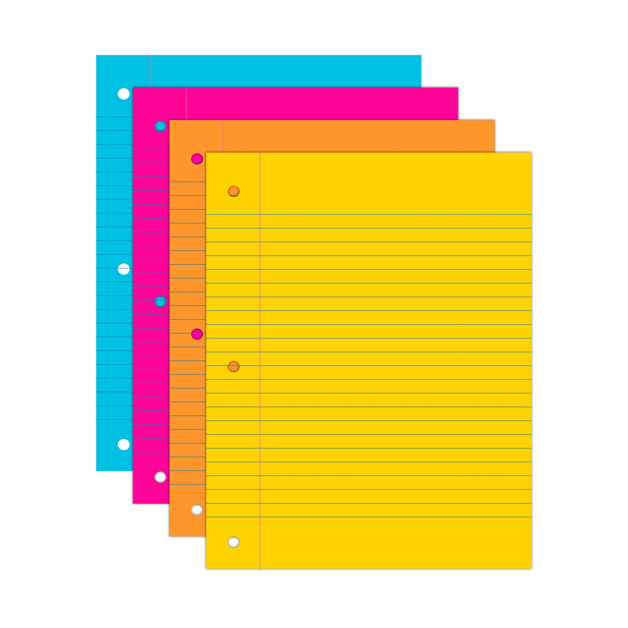 Wausau Astrobrights Wide Ruled Filler Paper Assortment, 100 Count, 8 X 10.5 Inches (25910) by Astrobrights (Image #2)