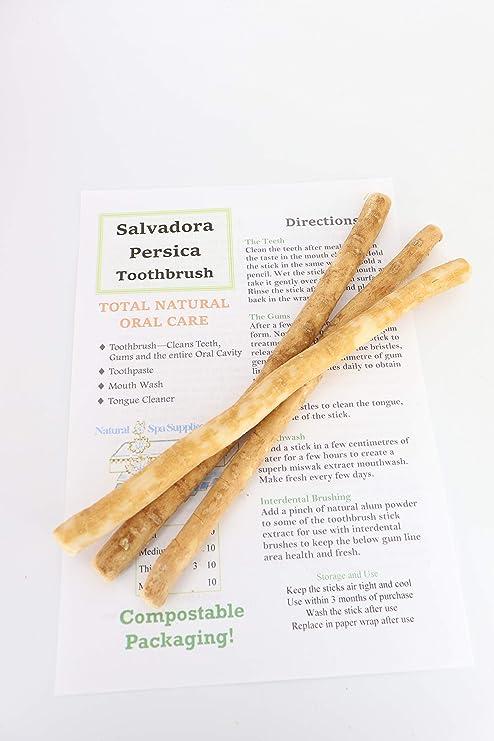 Natural Spa Supplies Ltd Miswak - Cepillo de dientes (3 unidades)