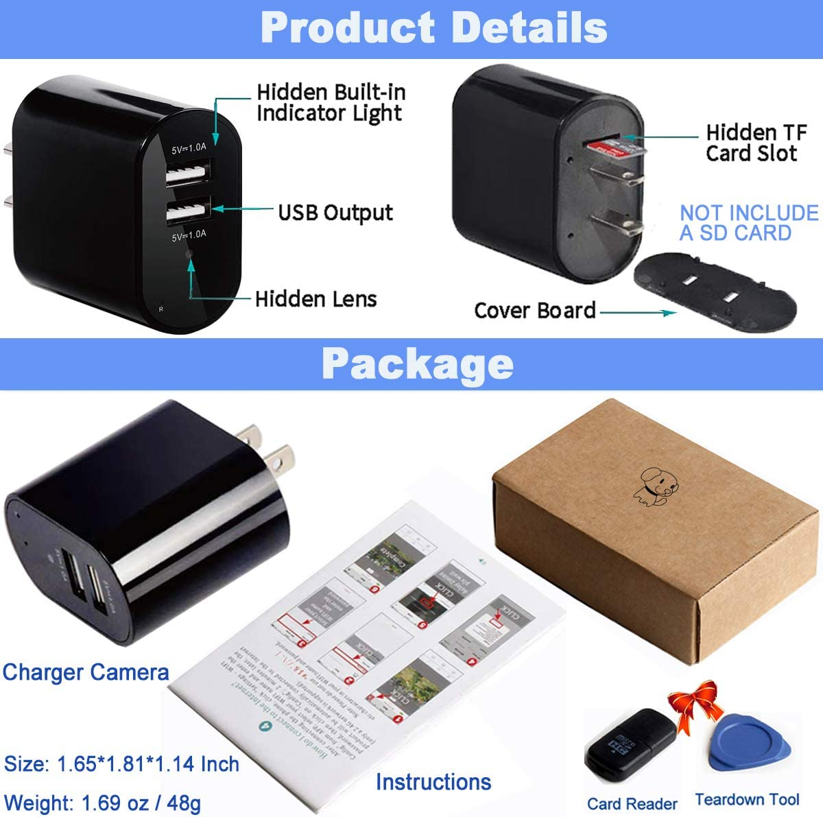 Disguised Camera Discreet Security Wireless Spy Cameras with Video ...
