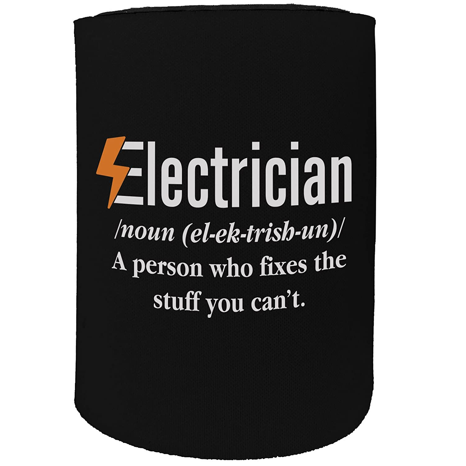 123t Stubby Holder - Electrician Meaning Sparky - Funny Novelty Birthday Gift Joke Beer Can Bottle Coolie Koozie Stubbie
