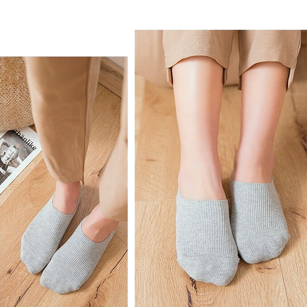 Amazon.com: Womens No Show Socks Casual Non-Slide Socks OS Multicolor Thin Socks 4 Pack: Clothing