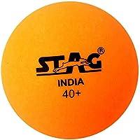 Stag Seam Plastic Table Tennis Ball, 40mm Pack of 6 (Orange)