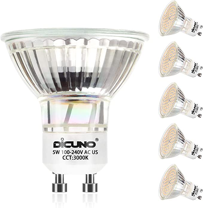 100/° Strahlwinkel Reflektorlampen 5 St/ück 5W 450lm LED Leuchtmittle 2700K warmwei/ßWarmwei/ß ersetzt 50W Halogenlampen LE GU10 LED
