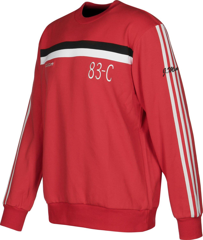 super popular 89f22 162b7 adidas Originals Mens Trefoil 83-C Retro Crew Neck Jumper - Red - M  Amazon.co.uk Clothing