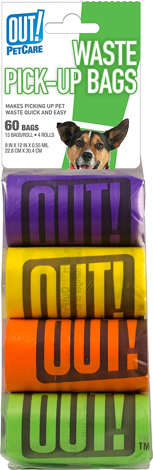 OUT! Dog Poop Bags   Strong, Leak Proof Dog Waste Bags  9 x 12 Inches