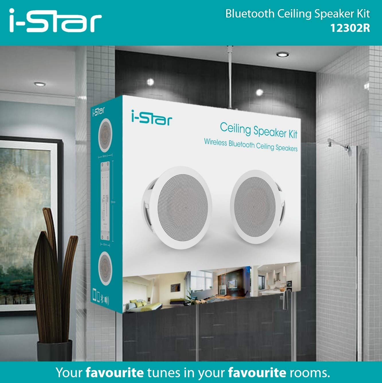Istar Ceiling Bluetooth Speakers Complete Kit Easy To Amazonco Circuit Design Quality For Sale Electronics