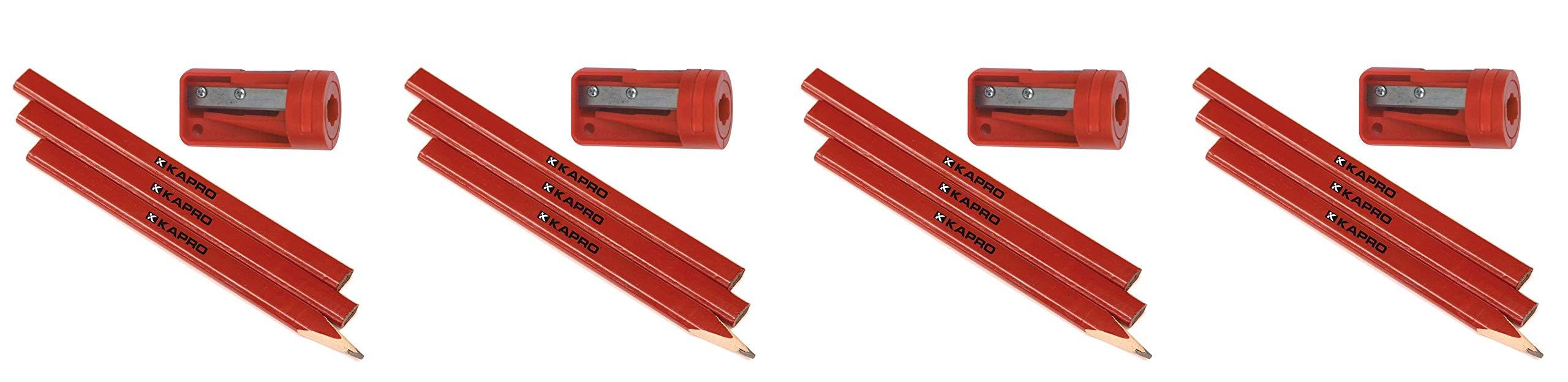 Kapro 275S Sharpener and 3 Pencil Set (Fоur Paсk) by Kapro (Image #1)