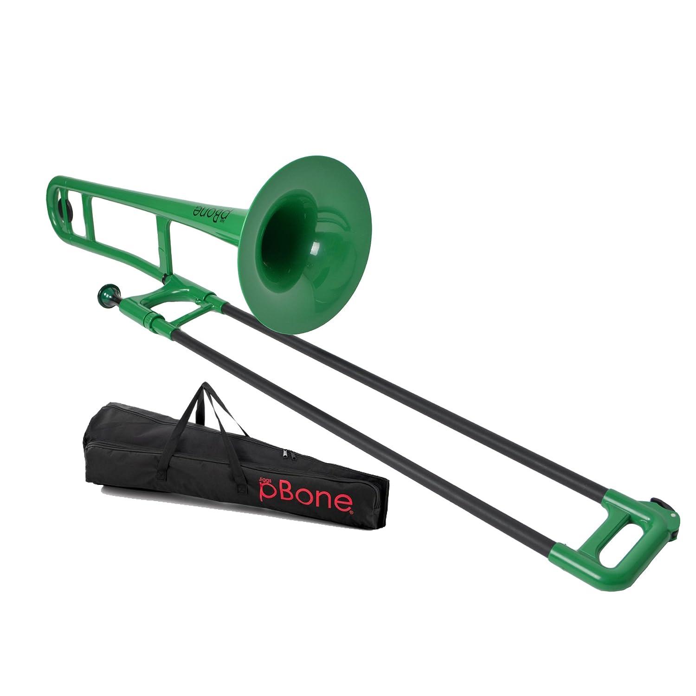 pBone PBONE1G Jiggs Plastic Trombone, Green