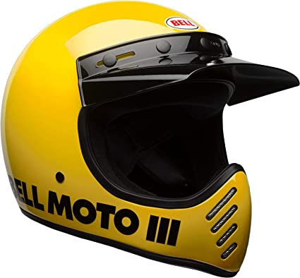 Bell Moto-3 Off-Road Motorcycle Helmet (Classic Gloss Yellow, X-