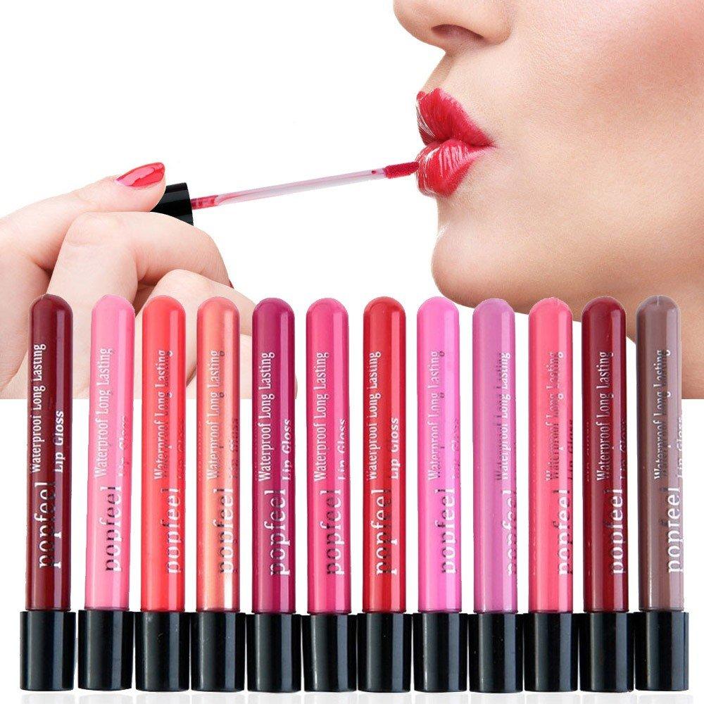 Hot Sales! DEESEE(TM) Waterproof Lip Gloss Matte Velvet Long Lasting Lipstick Pencil Cosmetic (K)