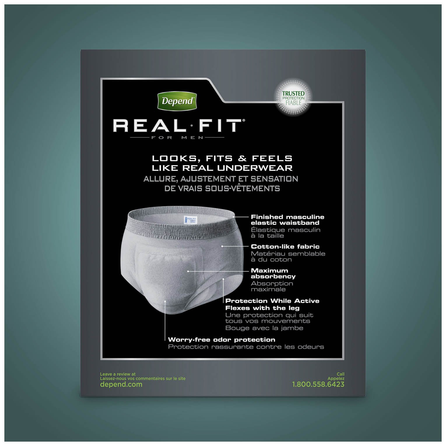 Depend Real Fit Incontinence Briefs for Men, Maximum Absorbency, S/M, Grey by Depend (Image #13)