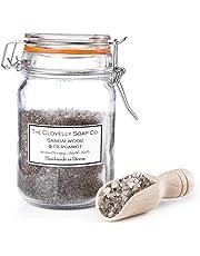 Clovelly Soap | Sales de baño con aroma de sándalo y de tierra | Frasco con