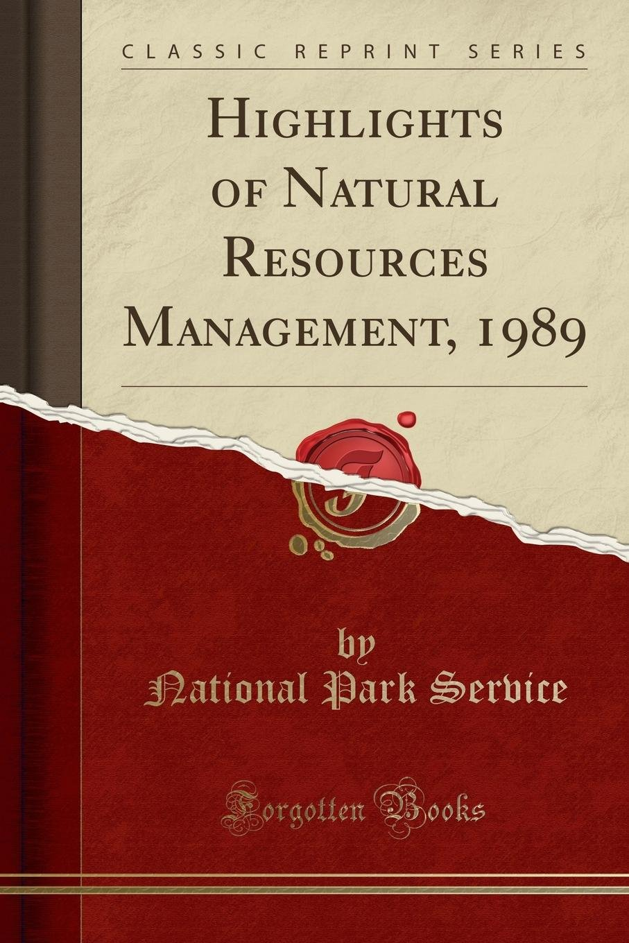 Download Highlights of Natural Resources Management, 1989 (Classic Reprint) pdf epub