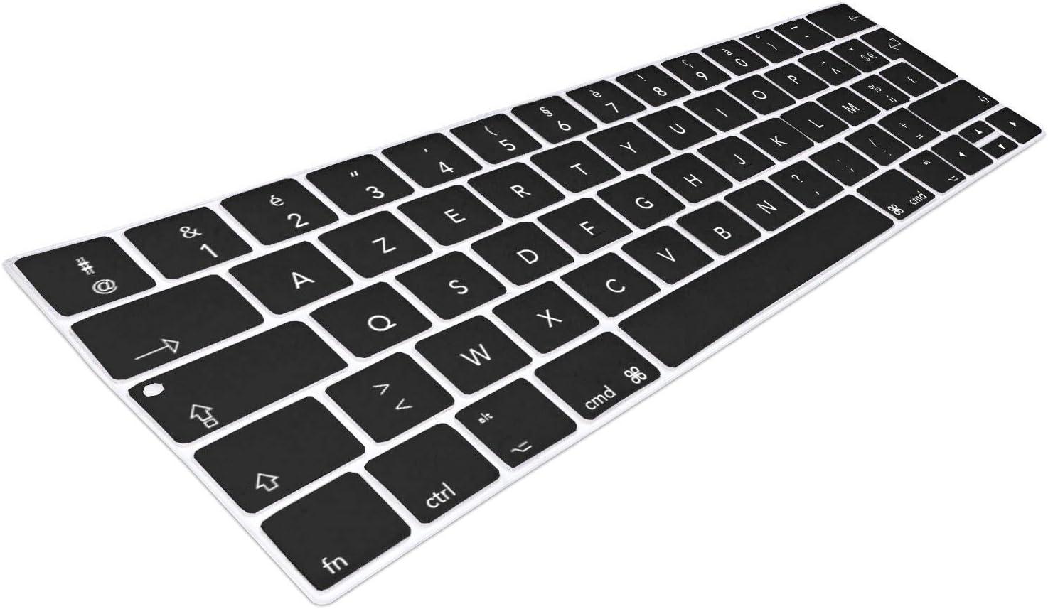 MyGadget Coque Clavier AZERTY pour Apple Macbook New Pro 13//15 2016 Couverture Ultra Fine en Violet Protection poussi/ère Silicone Flexible