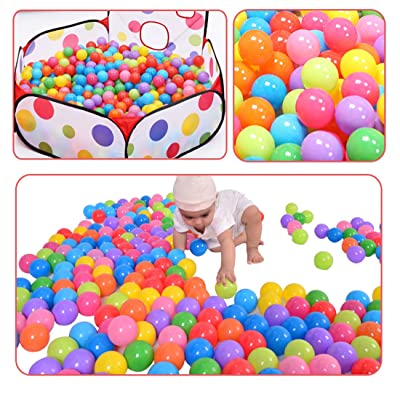 Hi Suyi Ball Pit Balls 200/Pack Colorful BPA Free Crush Proof with Mesh Bag for Toddlers Baby Playpen Play Tent House Swim Pool Toys (Only Balls): Toys & Games