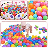 Ball Pit Balls 200 Pack Colorful BPA Free Crush Proof with Mesh Bag For Toddlers Baby Playpen Play Tent House Swim Pool Toys