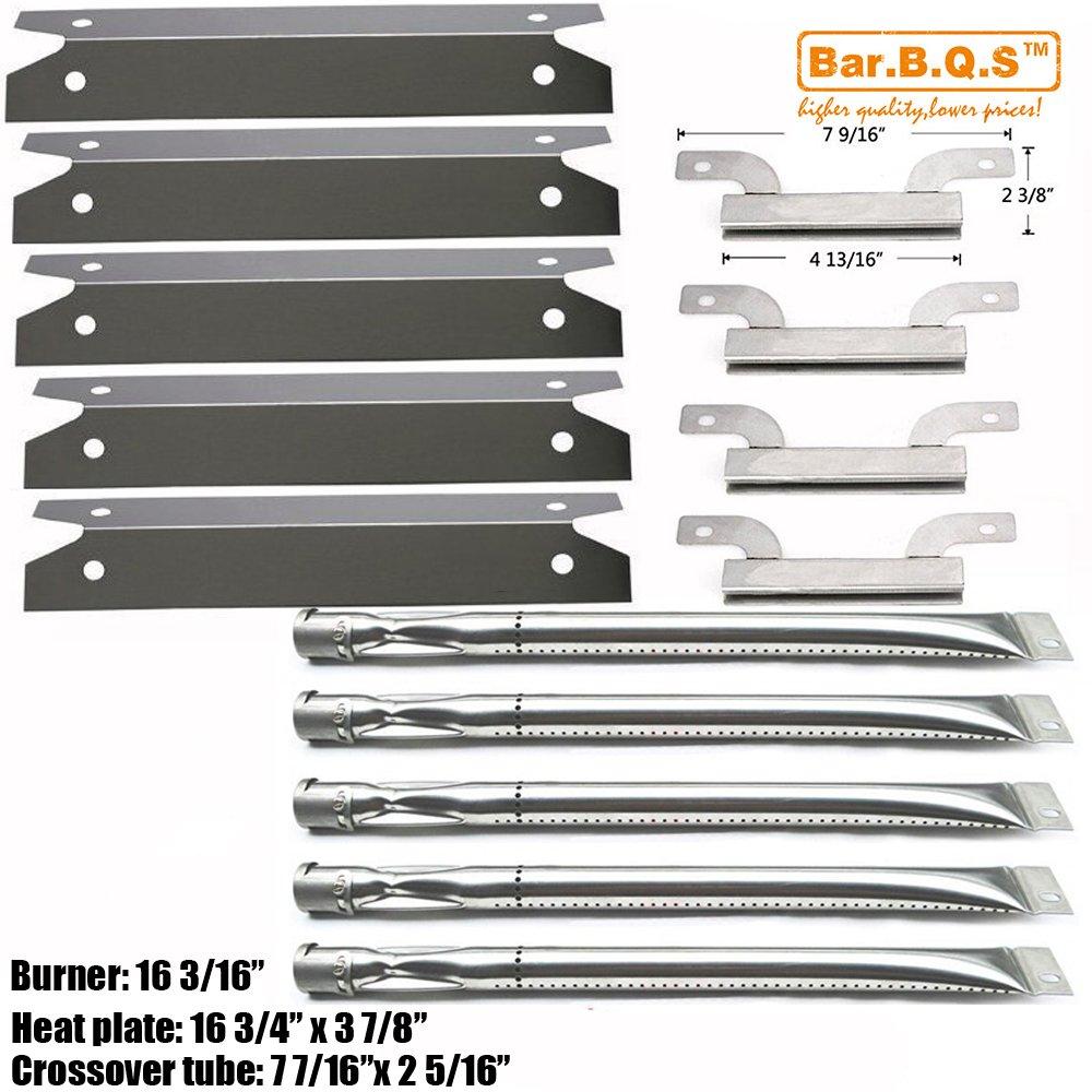 Bar.B.Q.S Ersatzkit Grillbrenner, Überlaufrohre, Heizplatten Reparatur KIT BBQ Ersatzteile für Brinkmann 810-1575-W Gas Grill,