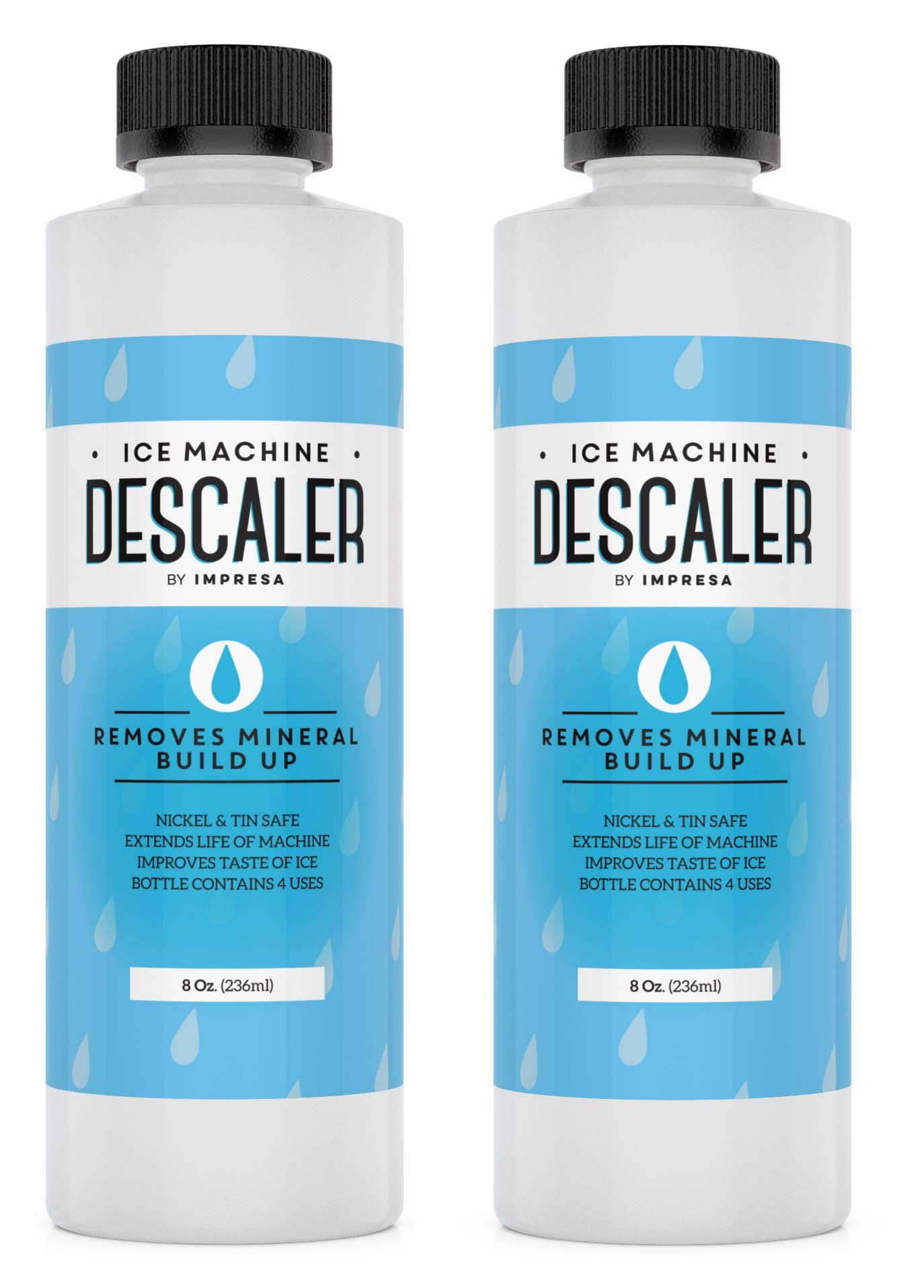 2-Pack Ice Machine Cleaner/Descaler - 8 Total Uses (4 Uses Per Bottle) - Made in USA - Works on Scotsman, Manitowoc, Opal and Virtually All Other Brands (Ice Maker Cleaner/Icemaker Cleaner)