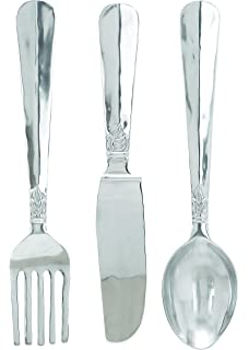 Deco 79 Set Of 3 Utensil Wall D Cor