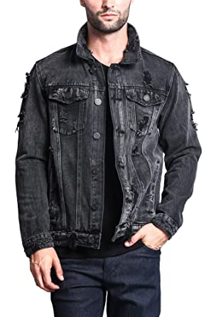8a17d43aeb9 Victorious G-Style USA Distressed Denim Jacket DK100 - Black - Small - II7C