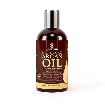 Champú de aceite de argán marroquí con fórmula restaurativa, 250 ml. Suave y sin