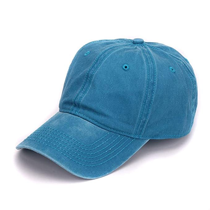 5f48fcd7cfe Image Unavailable. Image not available for. Color  HBBCEED Women Men Plain  Dyed Sand Washed Soft Cotton Blank No Embroidery Hat Baseball Cap