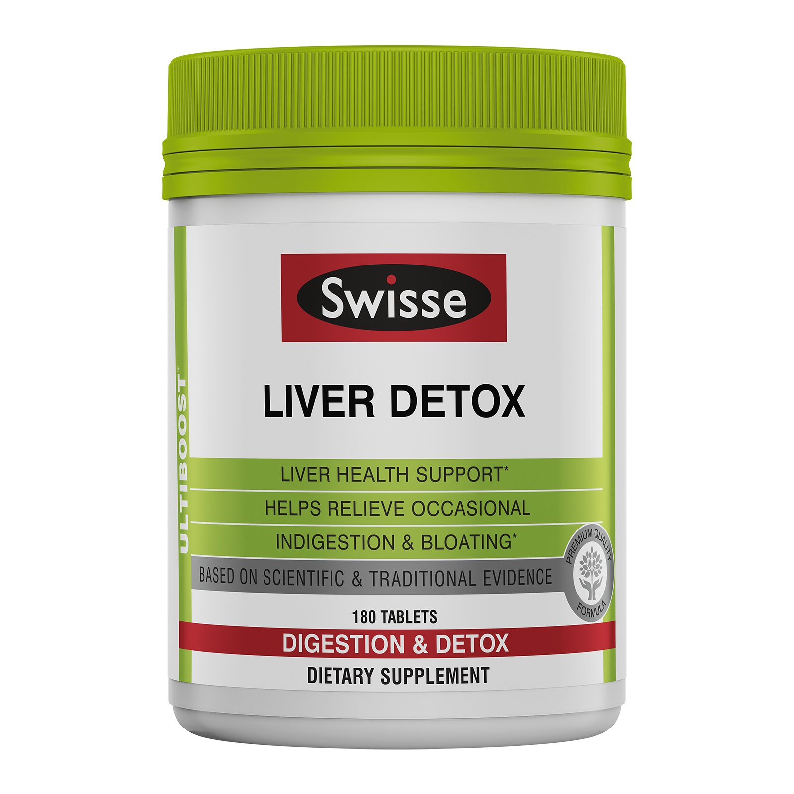 Swisse Ultiboost Liver Detox Tablets, 180 Count, Traditional Herbal Based Supplement, Supports Liver Health and Function*