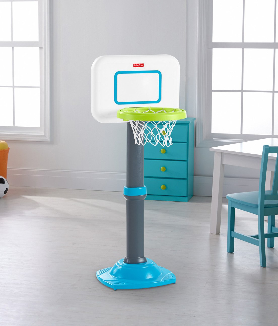 Amazon.com: Fisher-Price Grow-to-Pro Junior Basketball: Toys & Games