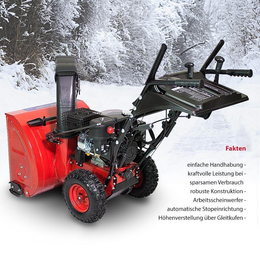 Schneefr/äse Schneer/äumer Schneepflug Premium extra breit 60cm 6,5 PS Benzinmotor E-Start