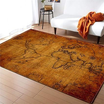 Amazon De Zxdyly Teppich Weltkarte 5 Weihnachtsteppich Kucheneingang Badezimmer Bodenmatte 3d Druck