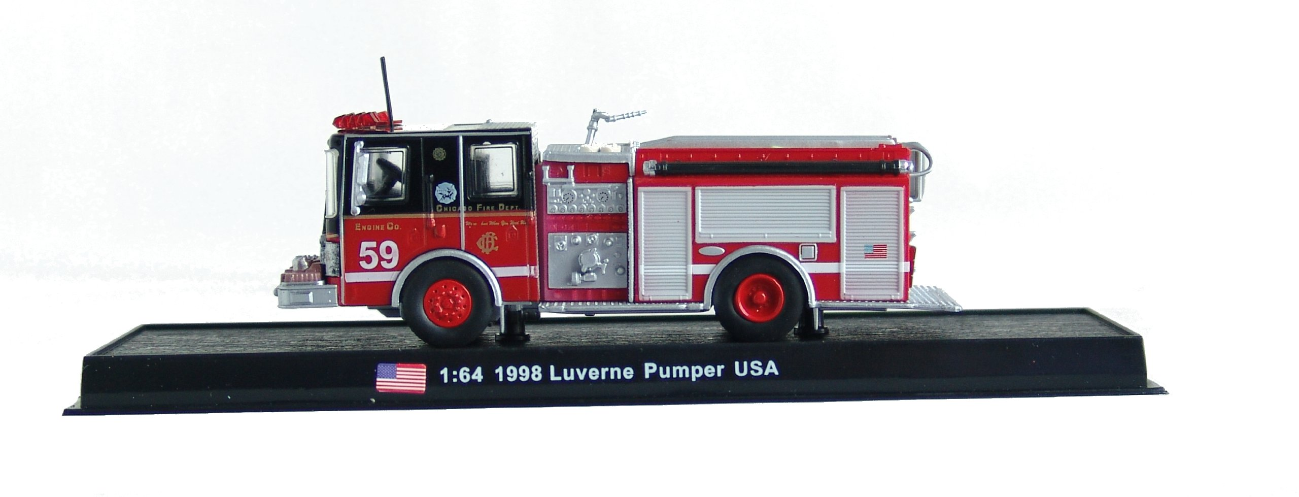 Luverne Pumper Fire Truck Diecast 1:64 Model (Amercom GB-17)