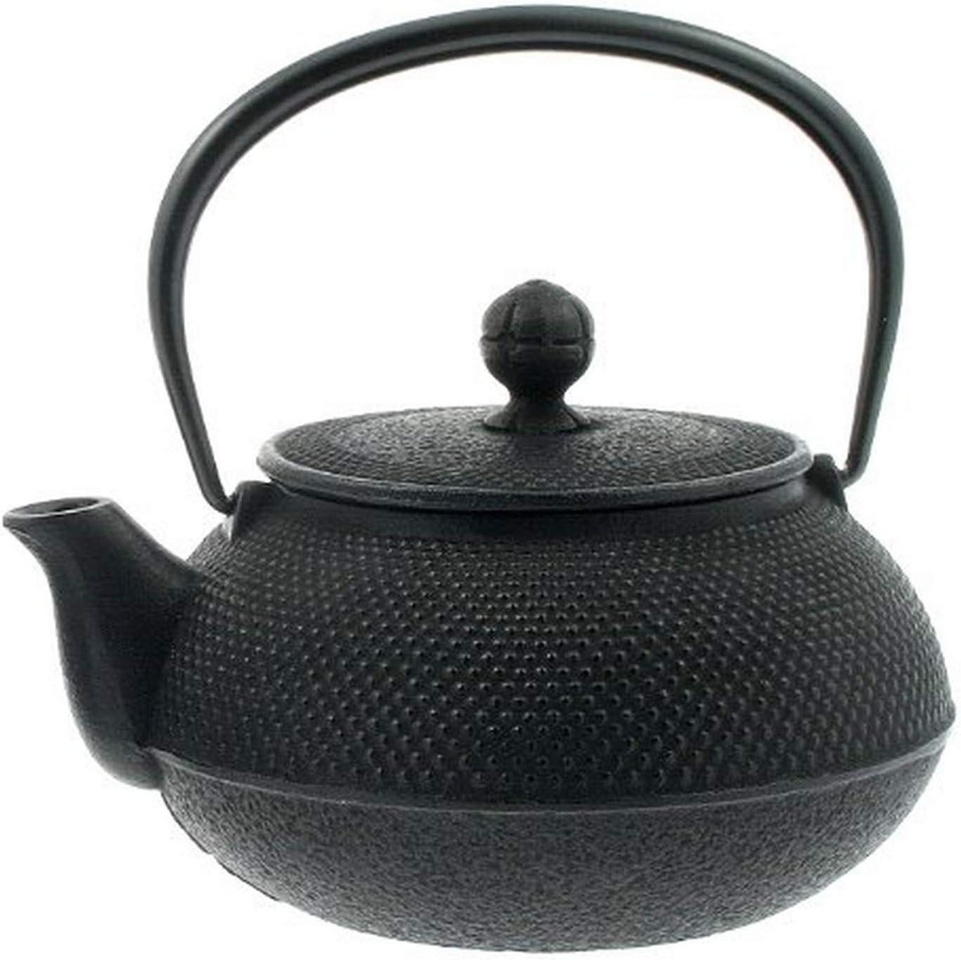 Large Iwachu 29-Ounce Japanese Iron Hobnail Tetsubin Teapot Black Kotobuki 480-134